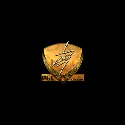 Sticker | Zeus (Gold) | Krakow 2017