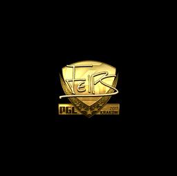 Sticker | felps (Gold) | Krakow 2017