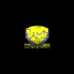 Sticker | flamie (Foil) | Krakow 2017