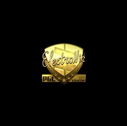 Sticker | electronic (Gold) | Krakow 2017