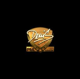 Sticker   denis (Gold)   Krakow 2017