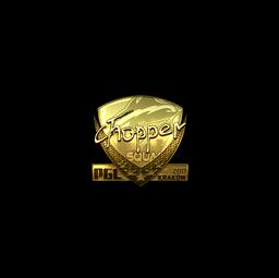 Sticker   chopper (Gold)   Krakow 2017