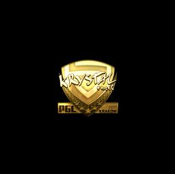 Sticker | kRYSTAL (Gold) | Krakow 2017
