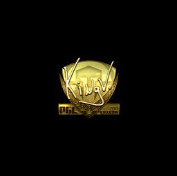 Sticker | kNgV- (Gold) | Krakow 2017