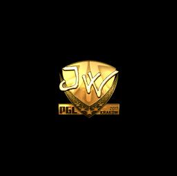 Sticker | JW (Gold) | Krakow 2017