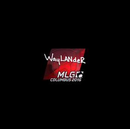 Sticker | wayLander (Foil) | MLG Columbus 2016