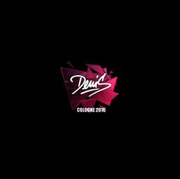 Sticker   denis (Foil)   Cologne 2016