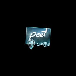 Sticker | peet (Foil) | Cologne 2015