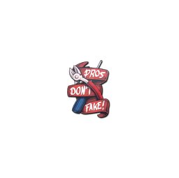 Sticker | Pros Don't Fake