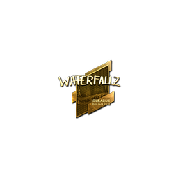 Sticker | waterfaLLZ (Gold) | Boston 2018