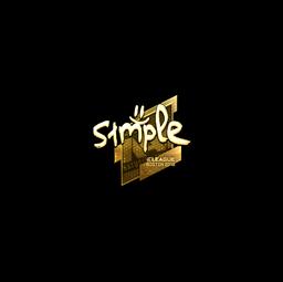 Sticker | s1mple (Gold) | Boston 2018