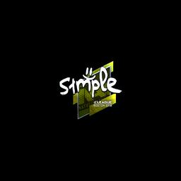 Sticker | s1mple (Foil) | Boston 2018
