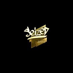 Sticker | seized (Gold) | Boston 2018