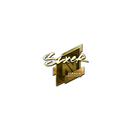 Sticker | SIXER (Gold) | Boston 2018