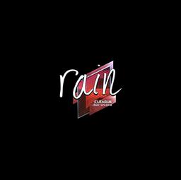 Sticker | rain (Foil) | Boston 2018