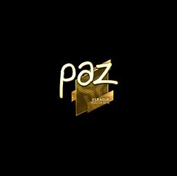 Sticker | paz (Gold) | Boston 2018