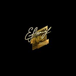 Sticker | flamie (Gold) | Boston 2018