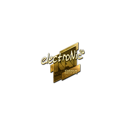 Sticker | electronic (Gold) | Boston 2018