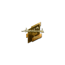 Sticker | devoduvek (Gold) | Boston 2018