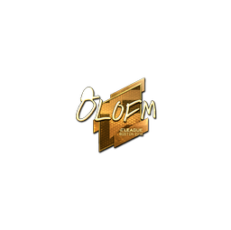 Sticker | olofmeister (Gold) | Boston 2018