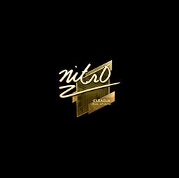 Sticker | nitr0 (Gold) | Boston 2018