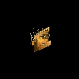 Sticker   NiKo (Gold)   Boston 2018