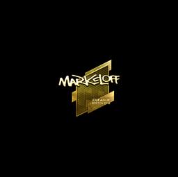 Sticker | markeloff (Gold) | Boston 2018