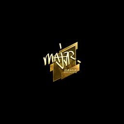 Sticker | MAJ3R (Gold) | Boston 2018
