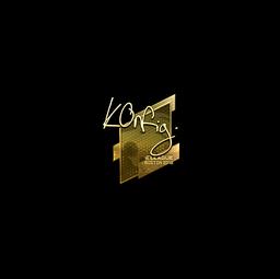 Sticker | k0nfig (Gold) | Boston 2018