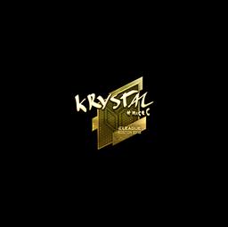 Sticker | kRYSTAL (Gold) | Boston 2018