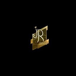 Sticker | jR (Gold) | Boston 2018