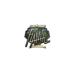 Sticker | flamie (Gold) | Berlin 2019