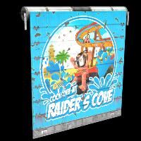 Raider's Cove Garage Door Rust Skin