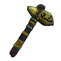 Two Faced Stone Hatchet Rust Skin