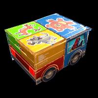 Stickered Toy Car