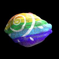 Rainbow Stone Rust Skin