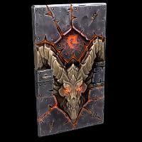 Molten Visage Metal Door Rust Skin