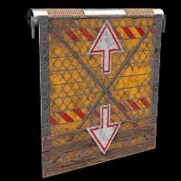 Elevator Garage Door Rust Skin