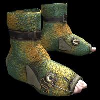 Fish Shoes Rust Skin