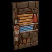 Pixel Metal Door Rust Skin