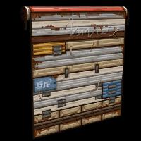 Pixel Garage Door Rust Skin