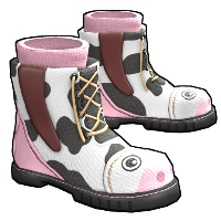 Cow Moo Flage Boots Rust Skin