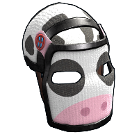 Cow Moo Flage Facemask Rust Skin