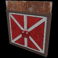 Red Barn Double Door Rust Skin