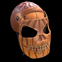 Evil Pumpkin Facemask Rust Skin