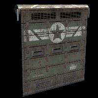Military Bunker Door Rust Skin