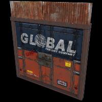 Global Freight Double Door Rust Skin