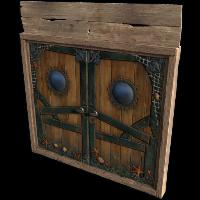 Pirate Ship Wooden Double Door Rust Skin