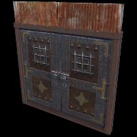 Castle Double Door Rust Skin