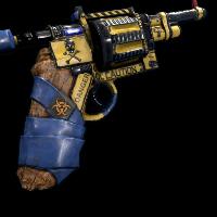 Caution Revolver Rust Skin